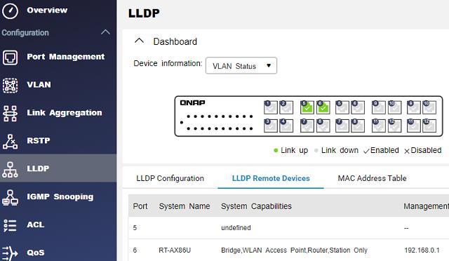 LLDP - průzkum zařízení v síti
