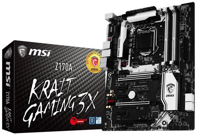MSI má nový přírůstek řady Krait. Do černobílé se tentokrát převlékla deska Z170A Gaming 3X