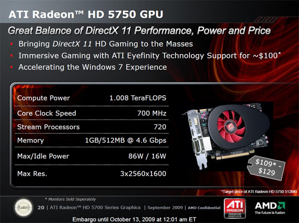 ATI Radeon HD 5770 a 5750 — DirectX 11 jde do mainstreamu