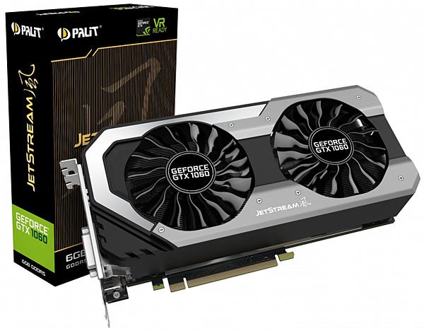 Grafická karta nVidia GeForce GTX 1060 – PALiT GeForce GTX 1060 JetStream