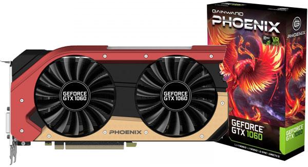 Grafická karta nVidia GeForce GTX 1060 – Gainward GeForce GTX 1060 Phoenix 6GB
