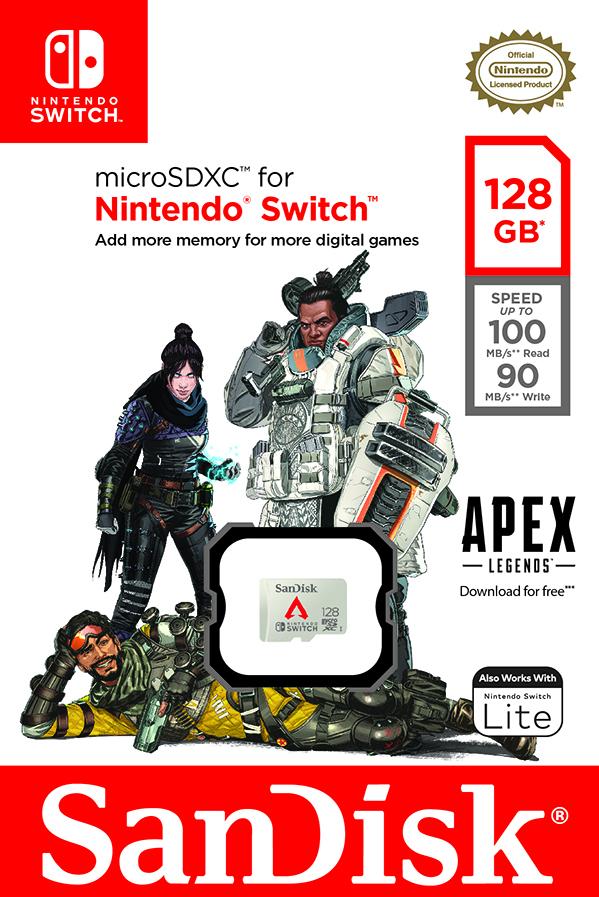 Western Digital má paměťovou kartu pro Nintendo Switch s motivem Apex Legends