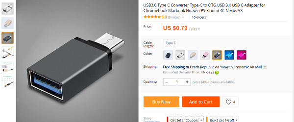Redukce typu USB C