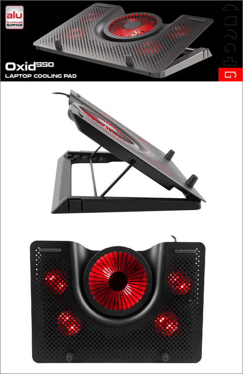Genesis Oxid 550: Pět ventilátorů, hliníkové tělo a LED podsvícení