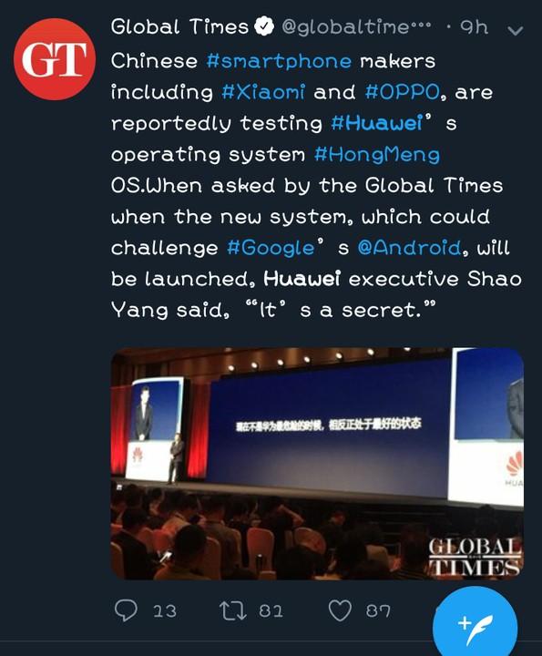 Huawei si nechal vyrobit milion telefonů s vlastním systémem HongMeng OS