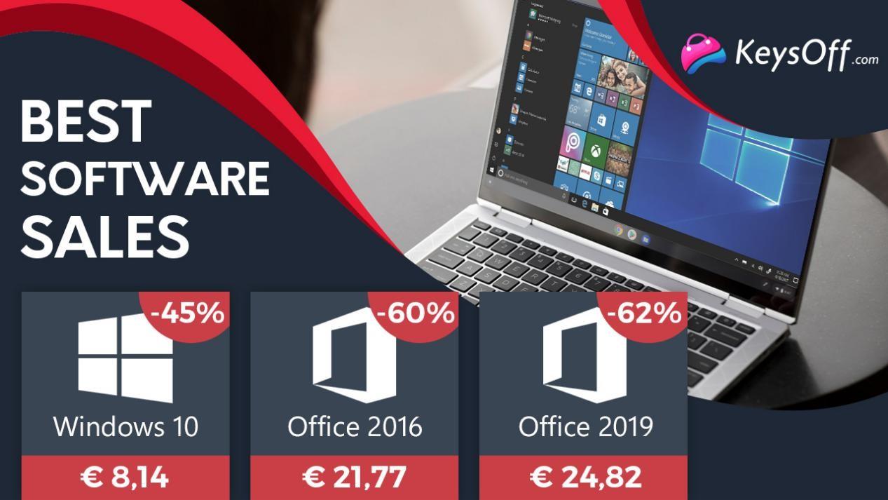 Týdenní výprodej:Windows 10 Pro méně než za 8.14 EUR a Microsoft Office 2016 za 21.77 EUR!