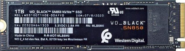 Disk WD Black 1 TB zepředu