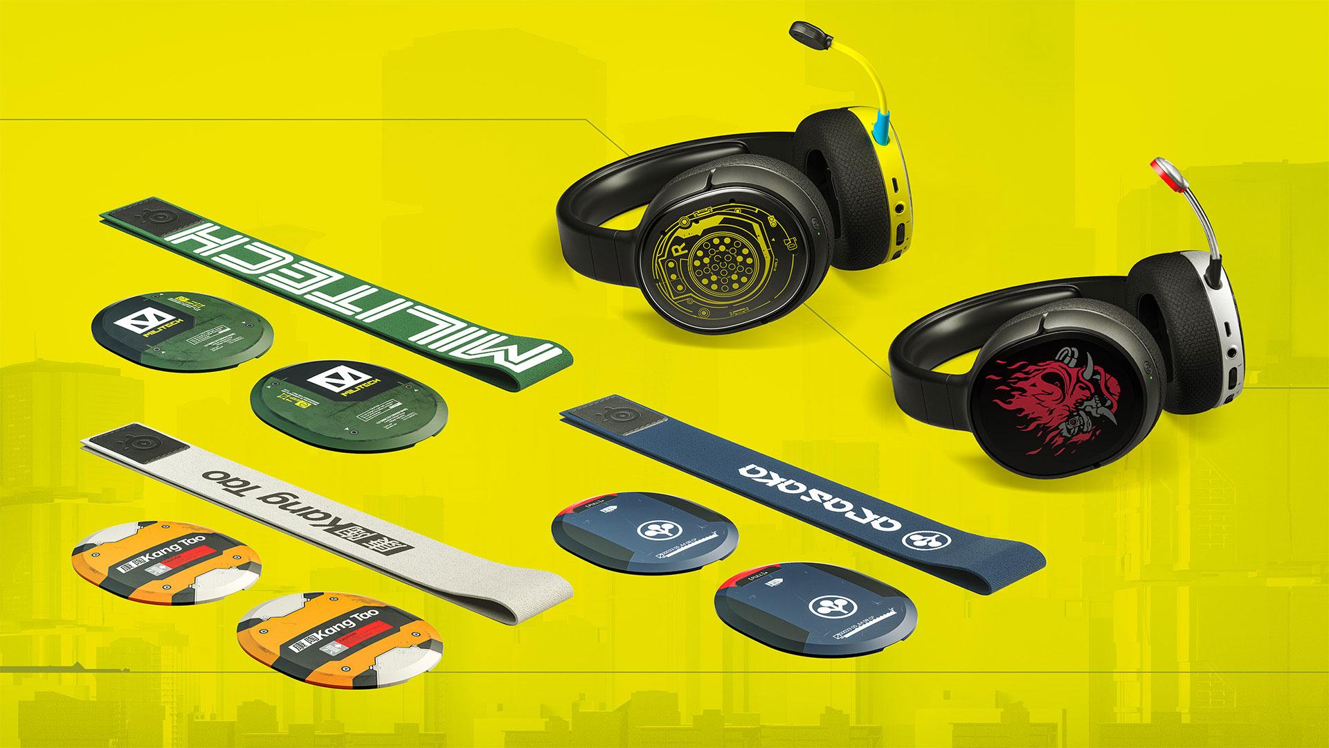 Limitovaná edice headsetů SteelSeries s motivy hry Cyberpunk 2077
