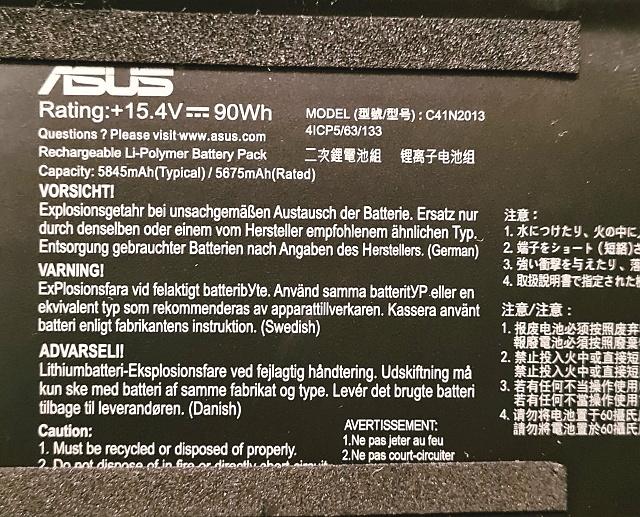 Baterie 90Wh (5845mAh)