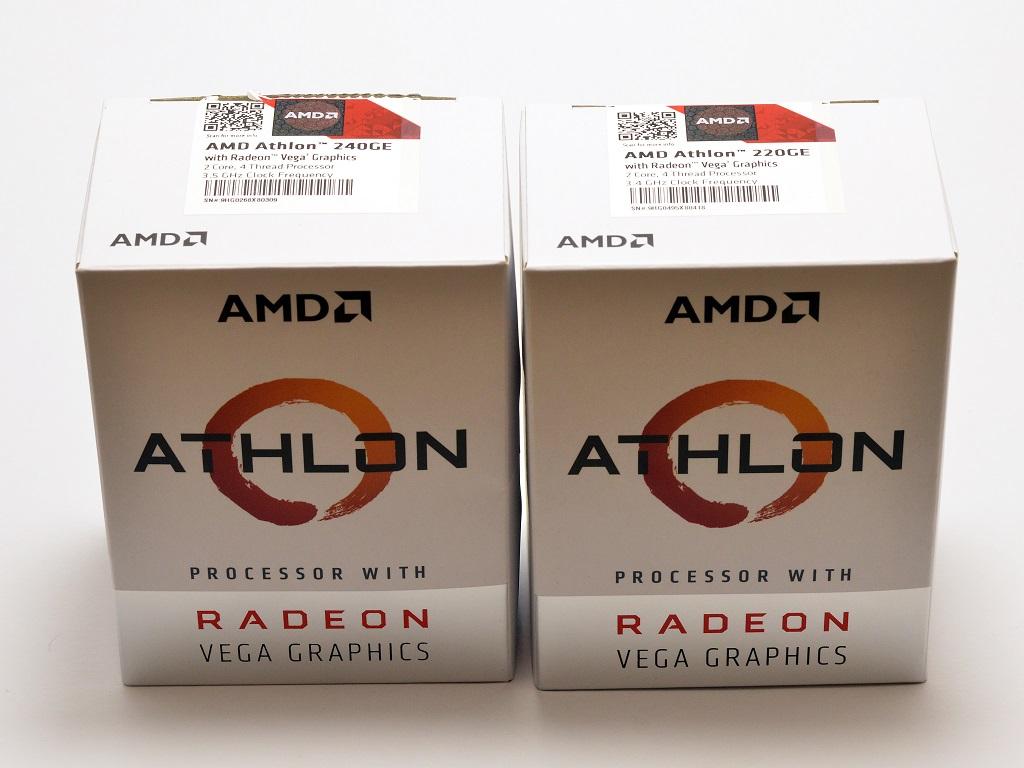 Balení AMD Athlon 220GE a Athlon 240GE