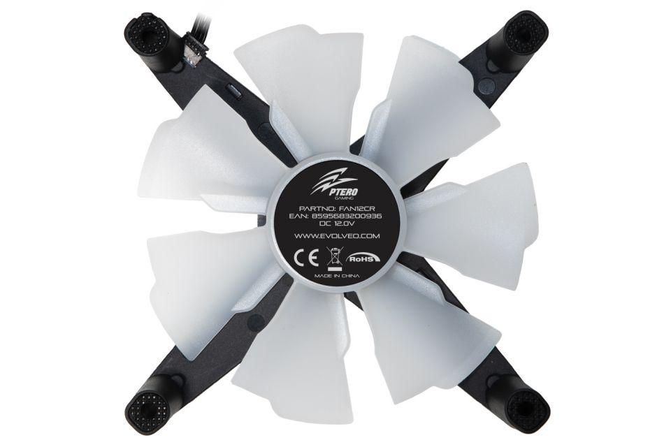 Evolveo Ptero 12CB a 12CR jsou větráčky v bezrámečkovém herním designu