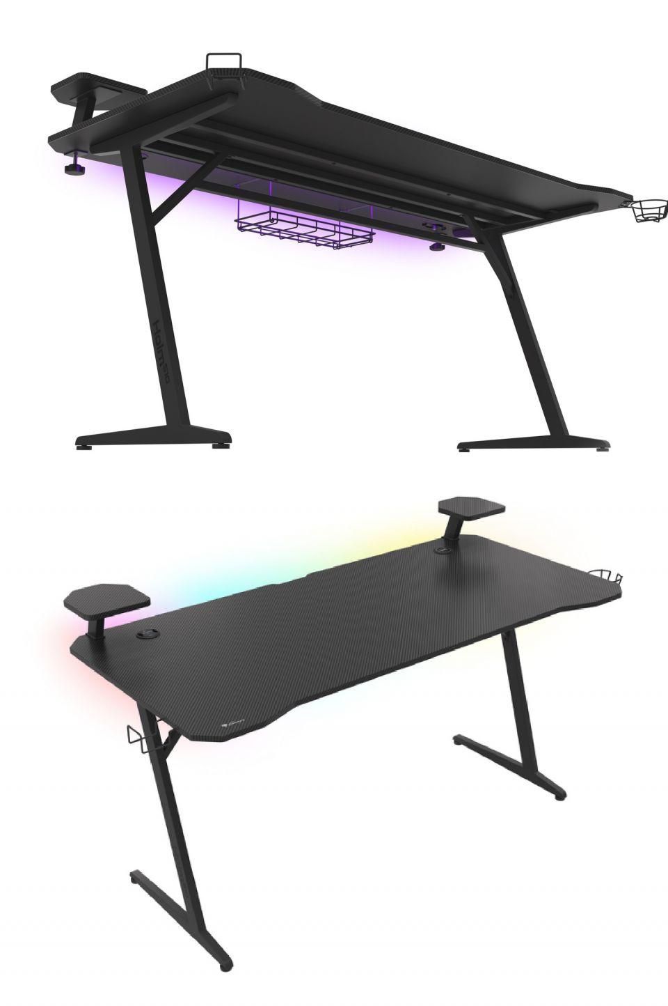 Genesis HOLM 510 RGB je zajímavý herní stůl s podsvícením