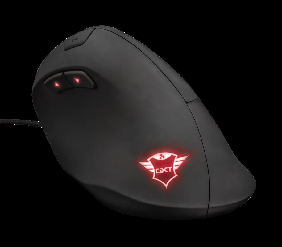 Trust GXT 144 Rexx: Vertikální myš nejen pro hráče