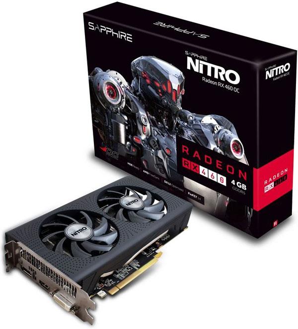 Grafická karta AMD RX 460 – Sapphire NITRO Radeon RX 460 4G D5