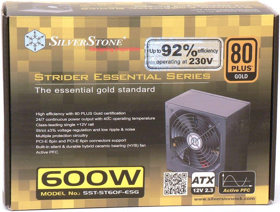 Silverstone Strider Essential Gold 600 W: vylepšený základ