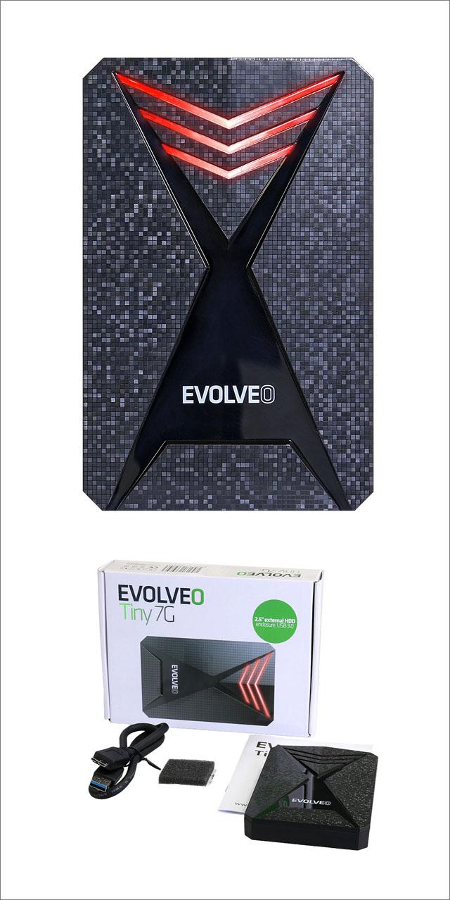 Evolveo Tiny 7G je rámeček pro disky v herním designu s LED podsvícením