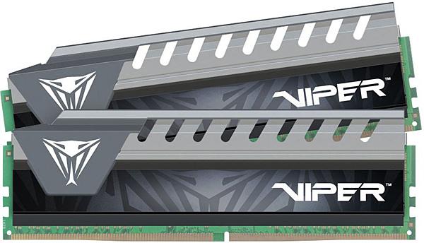 Paměťové moduly Patriot Viper Elite gray 2× 4 GB DDR4 2666