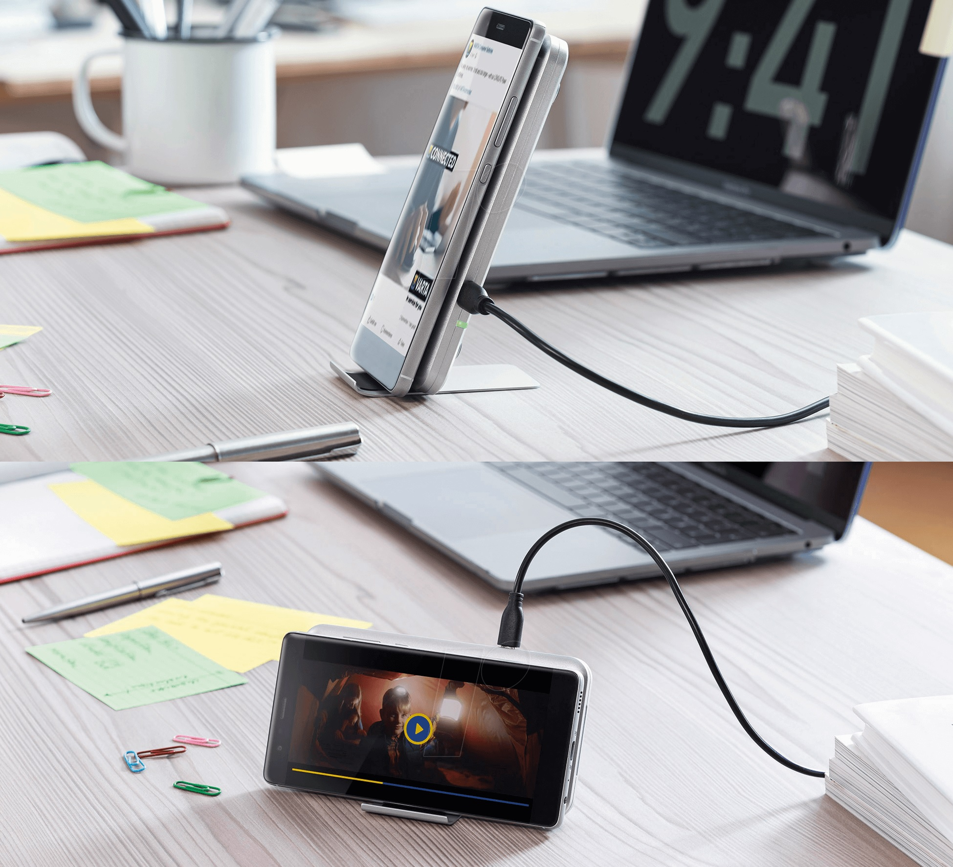 Varta Fast Wireless Charger je bezdrátová nabíječka sdvěma cívkami