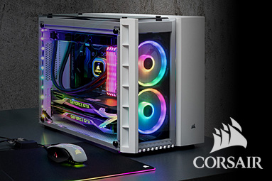 Corsair Crystal Series 280X RGB – mATX dvoukomorová skříň