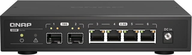 QNAP QSW-2104-2S - Dva 10 Gbit SFP+ porty! Paráda!