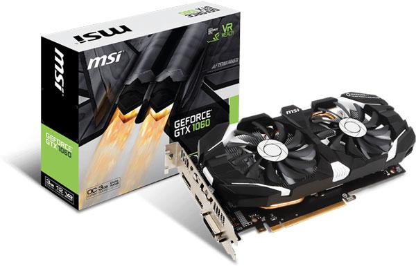 Grafická karta Nvidia GeForce GTX 1060 – MSI GeForce GTX 1060 3GT OC