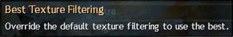 Best Texture Filtering On (po najetí myší se zobrazí Off)