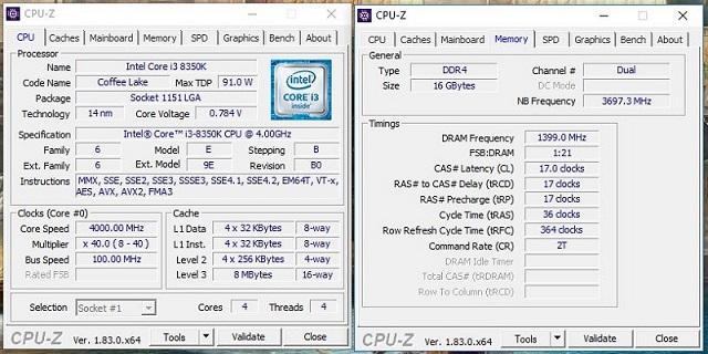 Intel Core i3-8350K, i5-8400 a AMD FX-8300 v testu