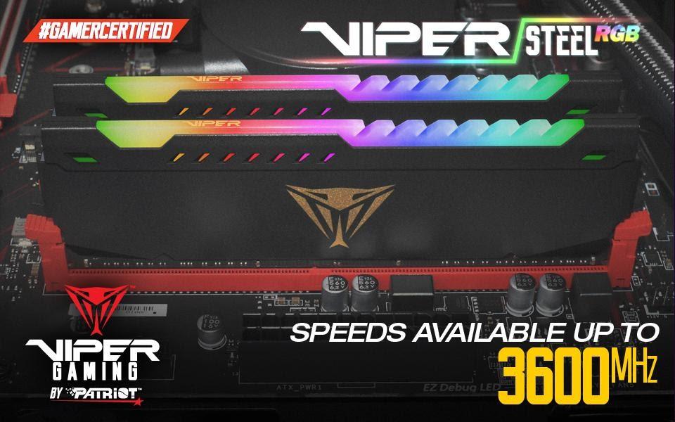 Viper uvádí na trh paměťové moduly Viper Steel RGB