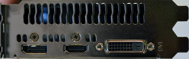 ASUS EX-GTX1050Ti-4G – pohled na výstupy