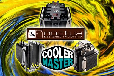 2× CoolerMaster vs. Noctua – design vs. kvalita