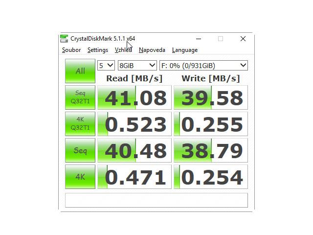 CrystalDiskMark 5.1.1 USB 2.0