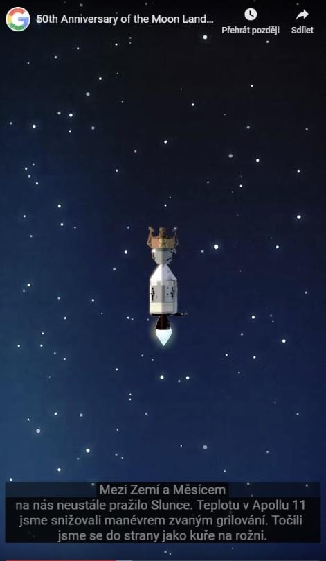 Google připomíná Doodlem přistání na Měsíci