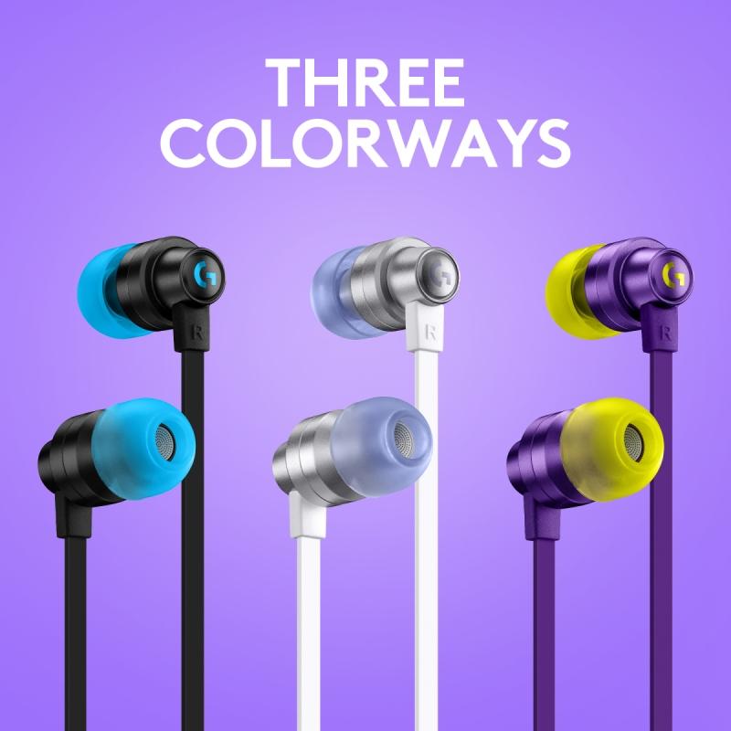 Logitech G333 Gaming Earphones vstupují do prodeje ve třech barvách