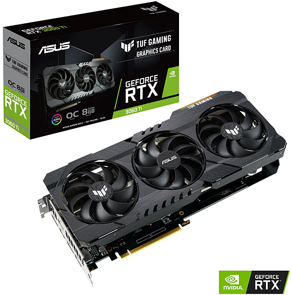 Grafická karta nVidia GeForce RTX 3060Ti – ASUS GeForce TUF-RTX3060Ti-O8G-GAMING
