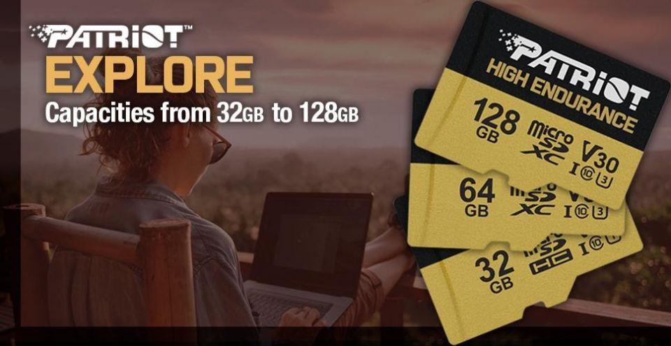 Patriot představuje microSDHC/XC karty High Endurance řady EP