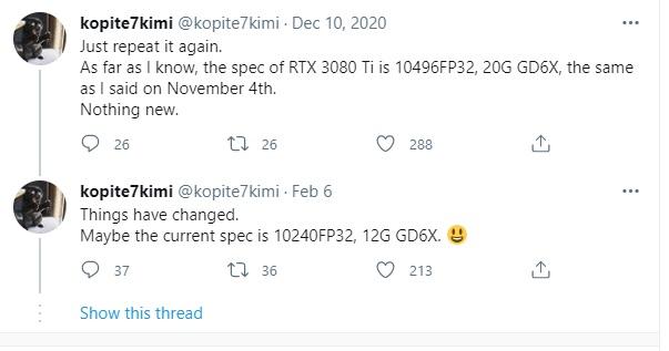 Nvidia omezí výkon v miningu také u GeForce RTX 3080 Ti a RTX 3070 Ti