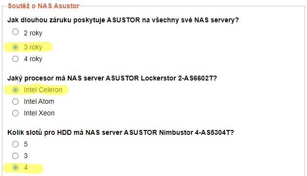 Vyhlášení soutěže o špičkový dvoudiskový NAS Asustor a další
