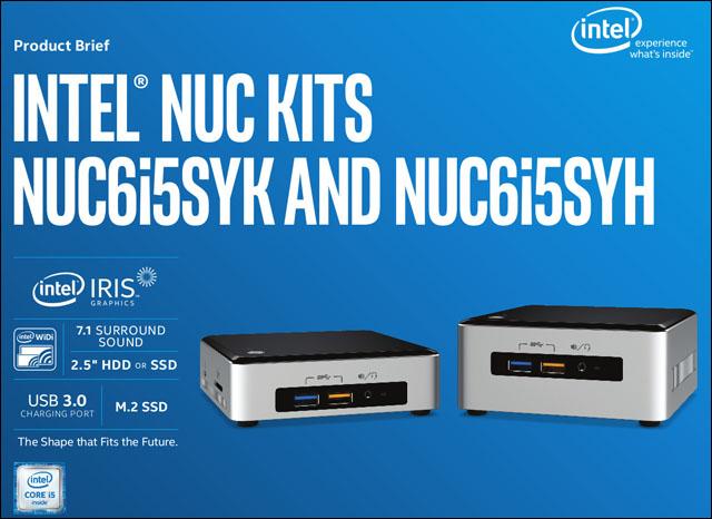Intel oficiálně odhalil novou generaci NUC s procesory Skylake