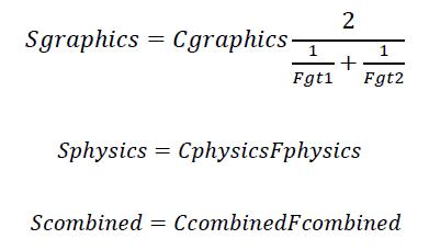 vzorce pro výpočet skóre