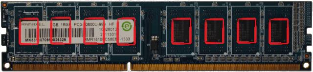 Normální paměť bez ECC a registru