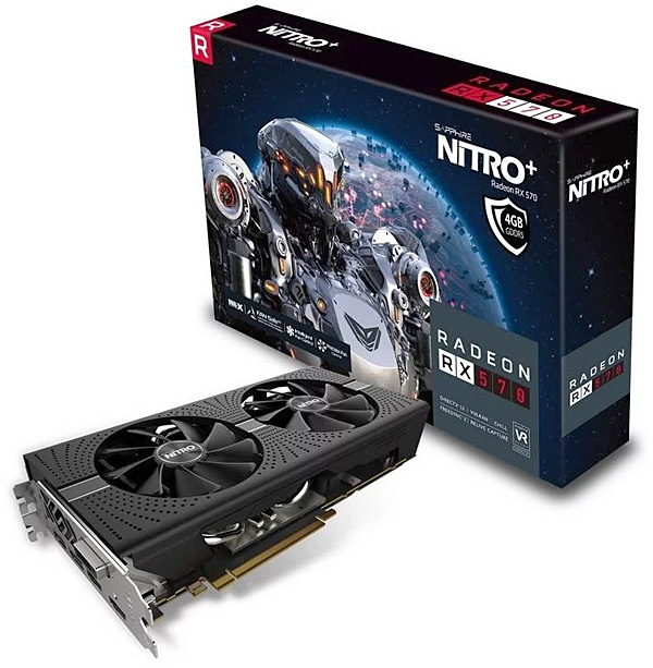 Grafická karta AMD Radeon RX 570 – Sapphire Radeon NITRO+ RX 570