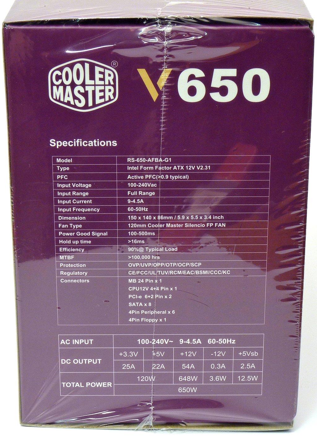 Cooler Master V650: plně modulární bratr VS