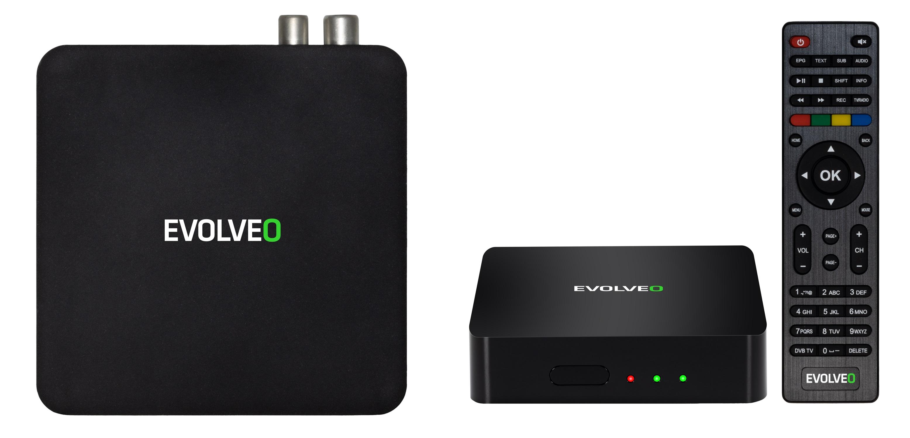 Evolveo Hybrid Box T2: multifunkční zařízení spojující set-top box a multimediální Android centrum