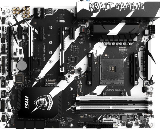 MSI přijde se základní deskou X370 v černobílé verzi Krait Gaming