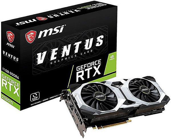Grafická karta nVidia GeForce RTX 2080 Ti – MSI GeForce RTX 2080 Ti VENTUS 11G OC