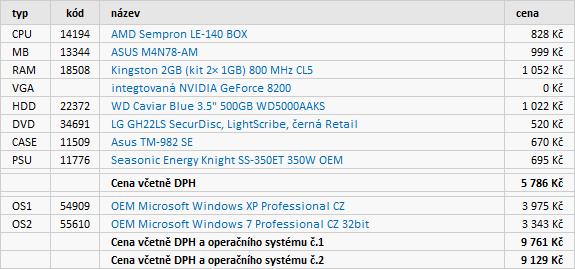 Doporučené sestavy a monitory – srpen 2010