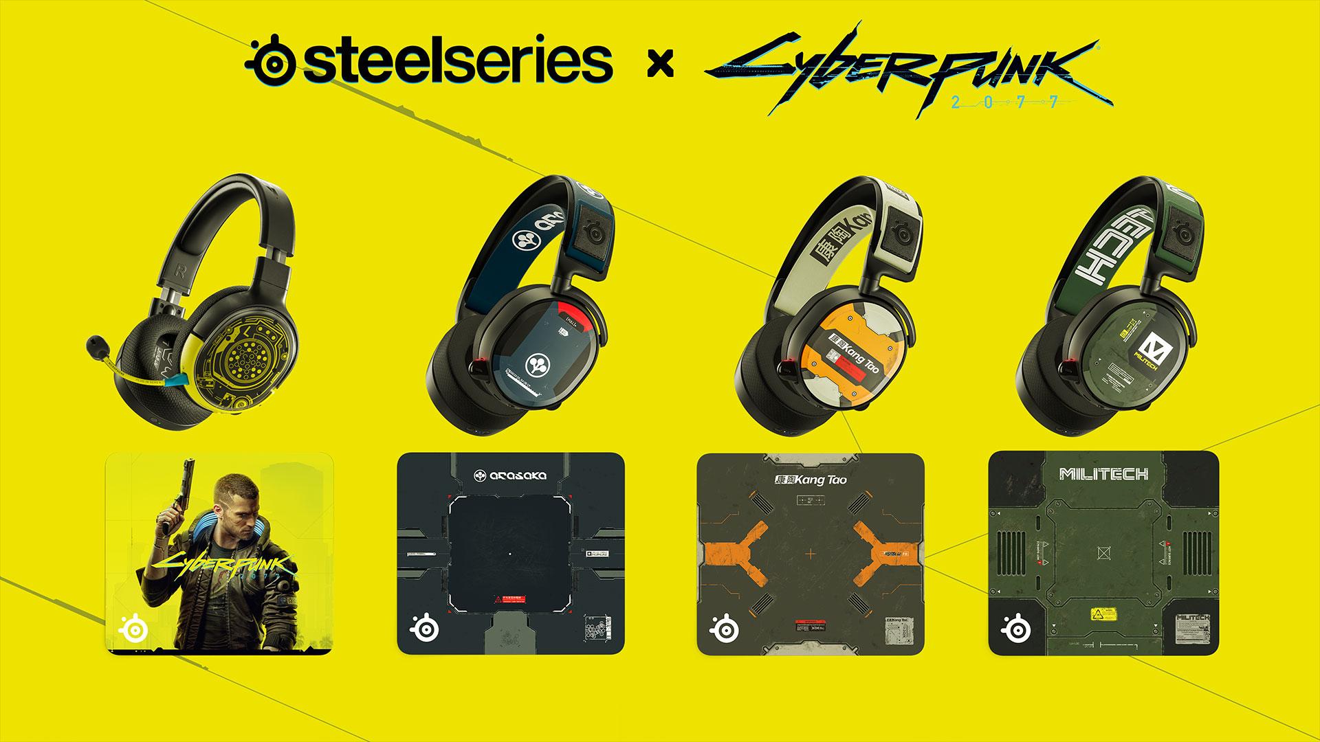 SteelSeries představuje limitovanou edici příslušenství na motivy Cyberpunku 2077