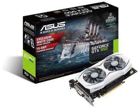 Grafická karta Nvidia GTX 950 – ASUS GTX950-2G