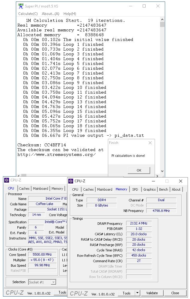 Procersor bez delidu na taktu 5,5 GHz a paměti na 4,26 GHz chlazené běžným AIO setem