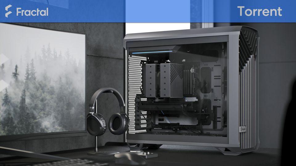 Počítačová skříň Fractal Design Torrent Gray TG Clear Tint